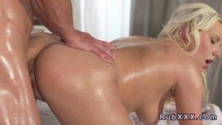 Beautiful Blonde Pussy And Tits Massaged